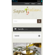 Shop on-line, vista da smartphone, pagina principale