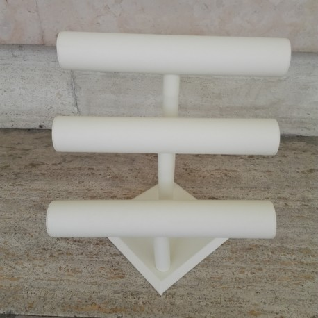Espositore 3 tubi similpelle
